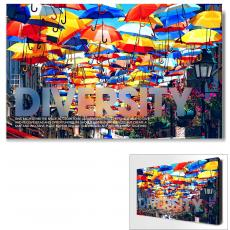 New Products - Diversity Umbrellas Motivational Art