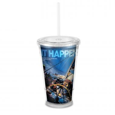 Make It Happen 16oz Acrylic Straw Tumbler
