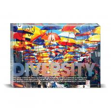 Modern Motivation - Diversity Umbrellas Desktop Print