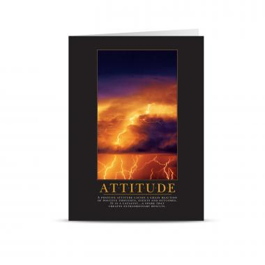 Attitude Lightning 25-Pack Greeting Cards