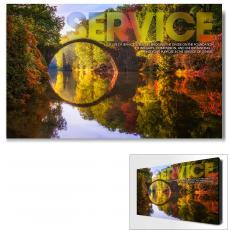 Service Posters - Service Bridge Motivational Art