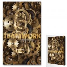 Teamwork Gears Motivational Art