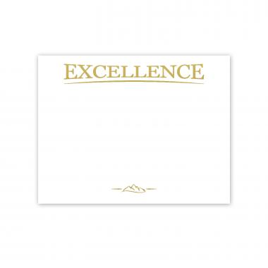 Excellence Mountain Gold Foil Certificate Paper