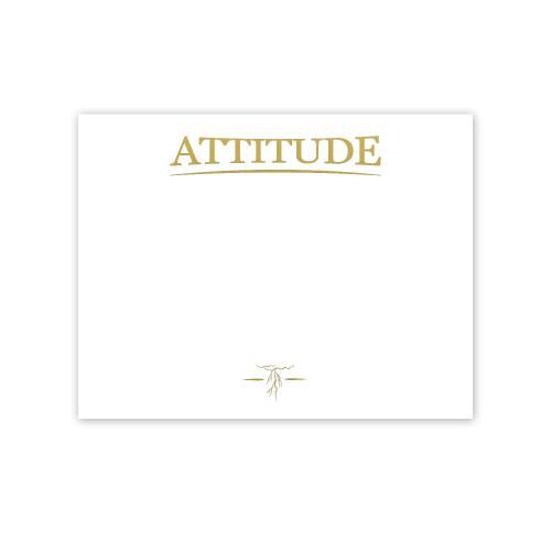 Attitude Lightning Gold Foil Certificate Paper