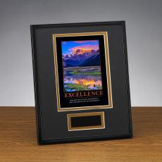 Shop by Design - Excellence Mountain Framed Award