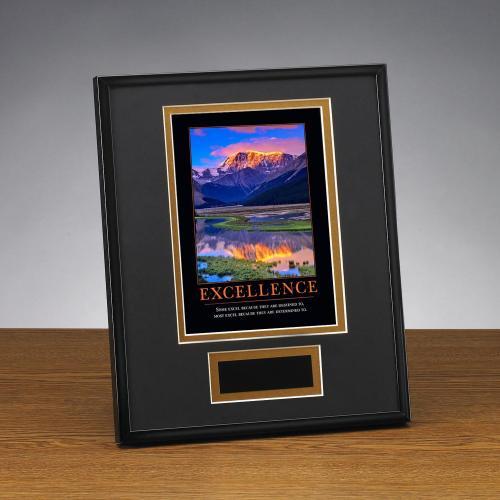Excellence Mountain Framed Award