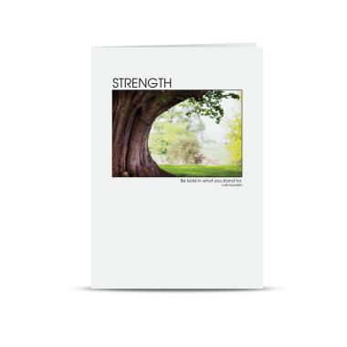 Thanks Strength Tree 25-Pack Greeting Cards
