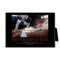 New Products - Determination Baseball Slide Desktop Print