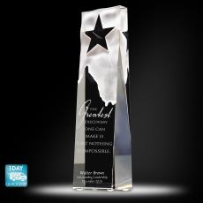 Quick Ship Awards - Star Obelisk Crystal Award