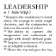 Leadership Definition