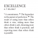 Excellence Definition