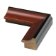 1.125 in. Black & Cherry Wood