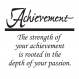 Achievement Passion