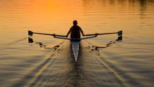 Framed Prints & Gifts - Rower's Sunset