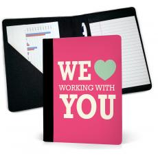 Journal Books - We Heart Working With You Jr. Padfolio