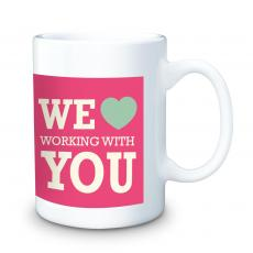 Valentine's Day Gifts - We Heart Working With You 15oz Ceramic Mug