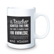 Teachers Chalkboard 15oz Ceramic Mug