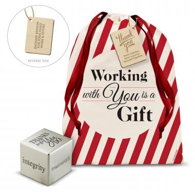 Thanks for All You Do Inspirational Cube Holiday Gift Set