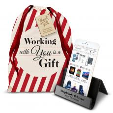 Personalized Gifts - Personalized iPhone Stand Holiday Gift Set