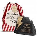 Attitude Power Rock Paperweight Holiday Gift Set