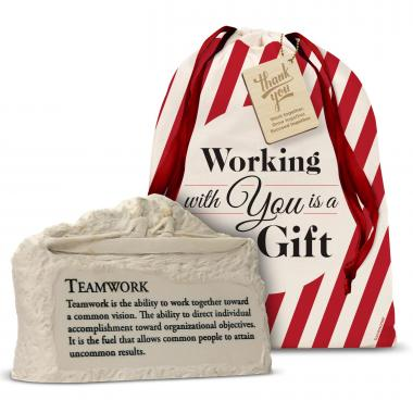 Teamwork Rowers Stone Image Paperweight Holiday Gift Set