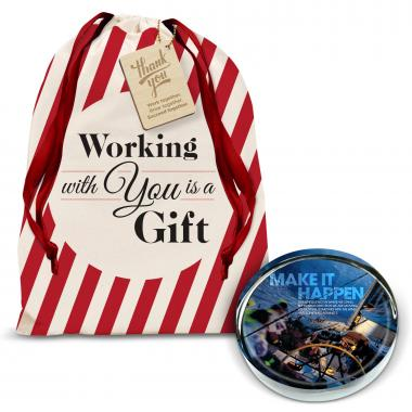 Make It Happen Sailboat Positive Outlook Paperweight Holiday Gift Set