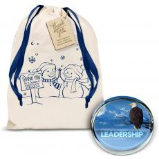 Gift Sets - Leadership Eagle Positive Outlook Paperweight Holiday Gift Set
