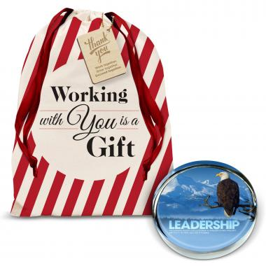 Leadership Eagle Positive Outlook Paperweight Holiday Gift Set
