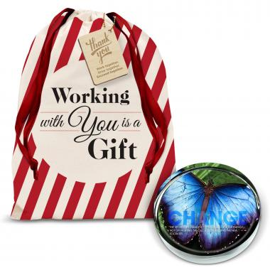 Change Butterfly Positive Outlook Paperweight Holiday Gift Set