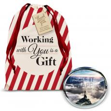Gift Sets - Make It Happen Mountain Positive Outlook Paperweight Holiday Gift Set