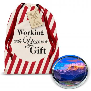 Excellence Mountain Positive Outlook Paperweight Holiday Gift Set