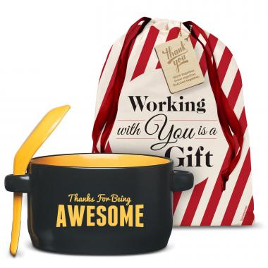 Thanks for Being Awesome Soup Mug Holiday Gift Set