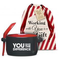 Drinkware - You Make the Difference Red Soup Mug Holiday Gift Set