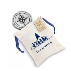 Personalized Gifts - Leadership Compass Metal Paperweight Holiday Gift Set
