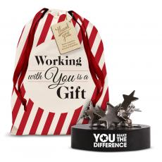 Desk Accessories - You Make the Difference Magnetic Clip Holder Holiday Gift Set