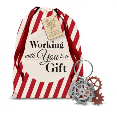 You're An Essential Part Metal Keychain Holiday Gift Set