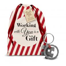 Holiday Gifts - Working Together Metal Keychain Holiday Gift Set