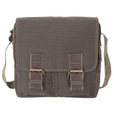 Messenger Bags - Cotton canvas messenger bag with front flap adjustable magnetic snaps