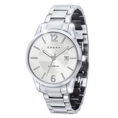 Fashion Accessories - Watch with polished silver finish, date display and stainless steel bracelet