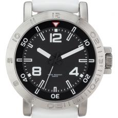 Fashion Accessories - Sport style watch with 46 mm brushed metal case and silicone straps