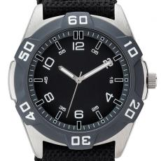 Fashion Accessories - Sport style watch with 42mm brushed silver metal case and nylon straps