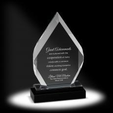 New Awards - Brilliant Flame Acrylic Award