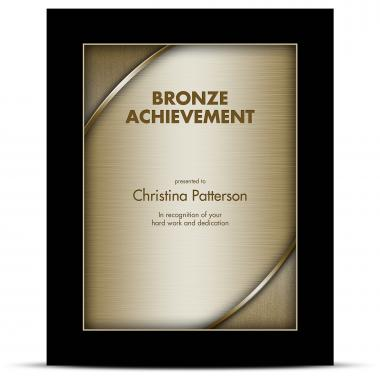 Designer Plaque Ebony Bronze