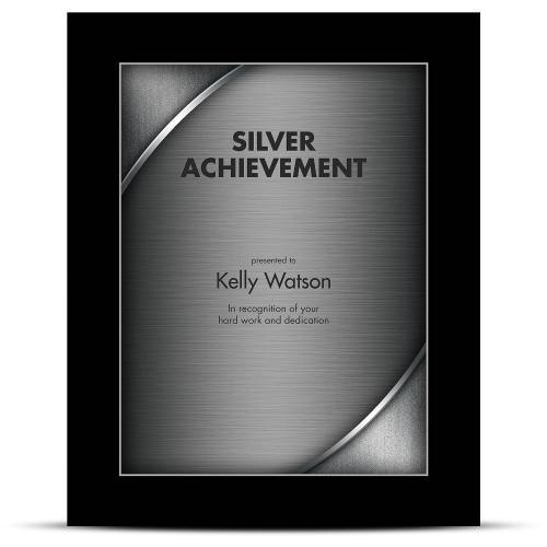 Designer Plaque Ebony Silver