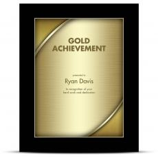 Designer Plaque Ebony Gold
