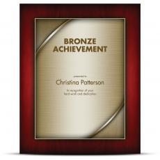 Designer Plaque Rosewood Bronze
