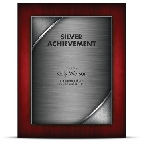 Designer Plaque Rosewood Silver