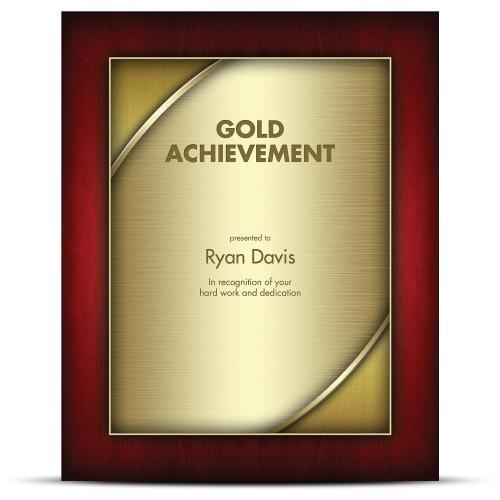 Designer Plaque Rosewood Gold