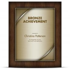 Designer Plaque Walnut Bronze