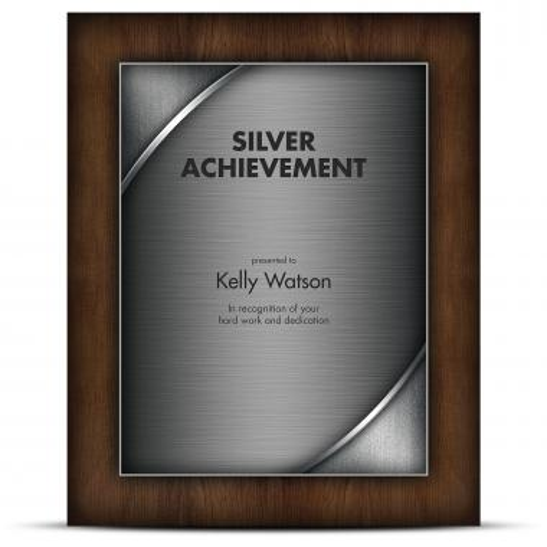 Designer Plaque Walnut Silver